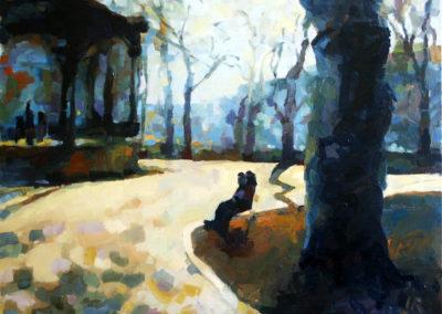 Zrinjevac: Couple on the Bench / Par na klupi