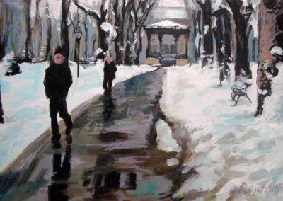 Zrinjevac in Snow